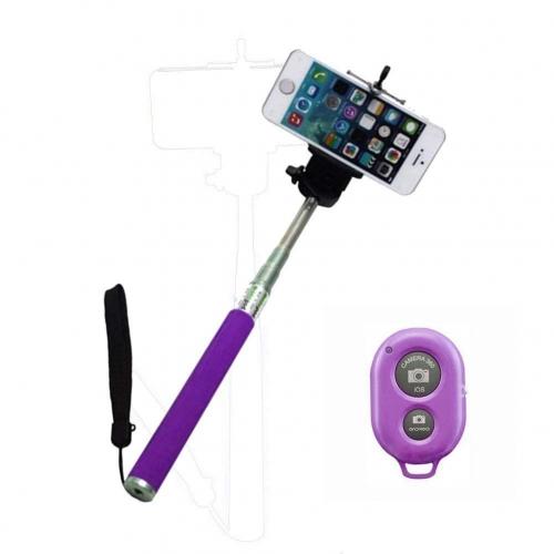 Handheld Bluetooth Extendable Selfie Stick No Wires Monopod Pole Mobile Phones
