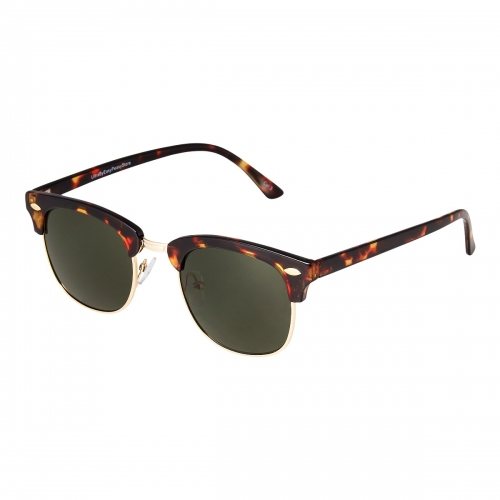 Ultra Tortoise Frame with Green Horizon Lenses Adults Half Rim Rimmed Classic Mens Womens Sunglasses Retro UV400 Glasses