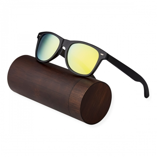 Ultra Ebony Wood Arms with Gold Lenses Sunglasses Polorised Eyewear Wooden Sunglasses UV400 Mens Womens-Ebony Wood Arms with Gold Lenses