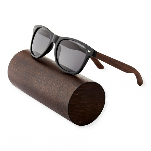 Ultra Walnut Wood Framed Glases with Smoked Lenses Sunglasses Polorised Eyewear Wooden Sunglasses UV400 Mens Womens-Walnut Arms with Smoked Lenses